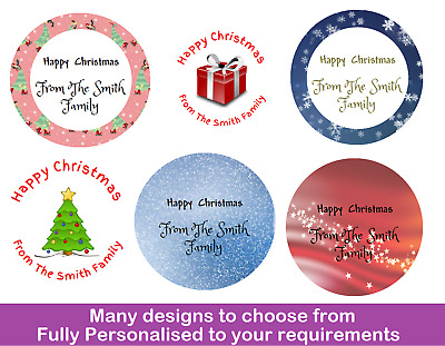 36 Personalised Christmas Gift Stickers / Labels - Present Tags Xmas Santa • 1.94£
