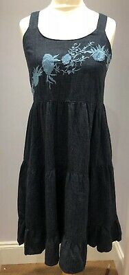 £6 • Buy Ex Next Denim Embroidered Swing Dress CLEARANCE!!!!!