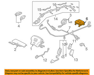 HONDA OEM Accord Supplemental Restraint System-Diagnostic Module 77960SDAC31 • 391$