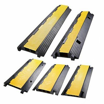 £55.68 • Buy 4/5 Channel Cable Protector Ramp Cover Cord Rubber Wire Cover Cord 4/5-Slot UK