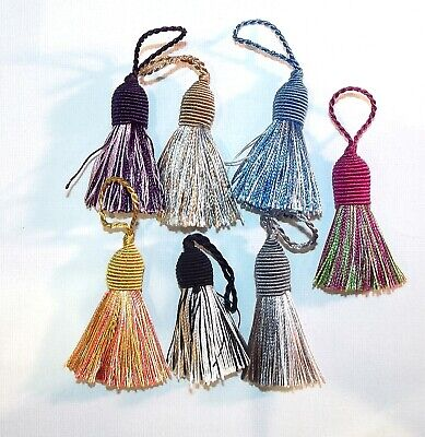 Tassel Silky Two Tone Each Earrings Jewellery Keyring Cushion Craft 6cm Exc Loop • 1.95£