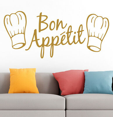 Bon Appetit Kitchen Cafe Home Room Family Quote Wall Vinyl Sticker Decal GOLD V1 • 5£