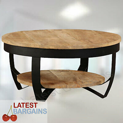 AU255.86 • Buy Wooden Coffee Table Steel Timber Side Lounge Living Room Furniture Shelf NEW