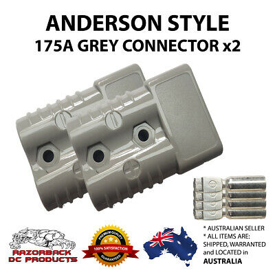 AU19.25 • Buy 2x 175 Amp Anderson Style Plug  600VDC Up To 2 B&S Winch Solar Caravan RV 175A
