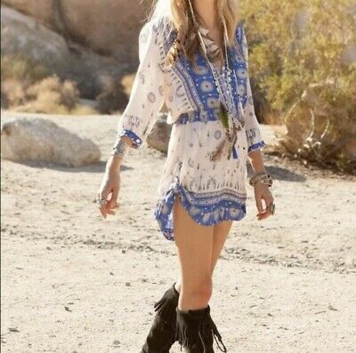 AU343.61 • Buy Spell And The Gypsy Vintage Coyote Playsuit In Royal Blue Small Revolve Clothing