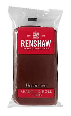Chocolate Flavour Renshaw Ready To Roll Icing 250g Packets • 2.55£