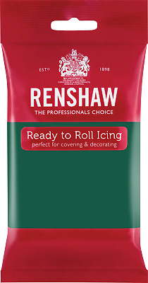 Emerald Green Renshaw Ready To Roll Icing 250g Packets • 2.44£