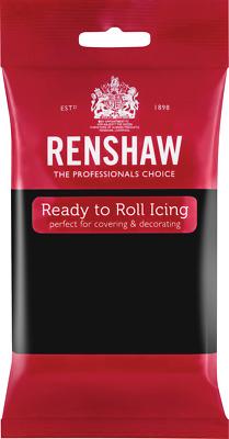 Jet Black Renshaw Ready To Roll Icing 500g Packets • 3.60£