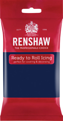 Navy Blue Renshaw Ready To Roll Icing 250g Packets • 2.44£