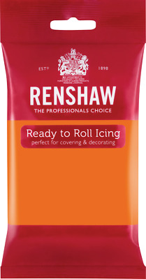 Tiger Orange Renshaw Ready To Roll Icing 250g Packets • 2.44£
