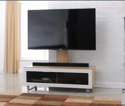 Oak And White TV Bracket Stand Cabinet Unit JVC Logik 32 37 40 42 Inch TVs • 159.99£