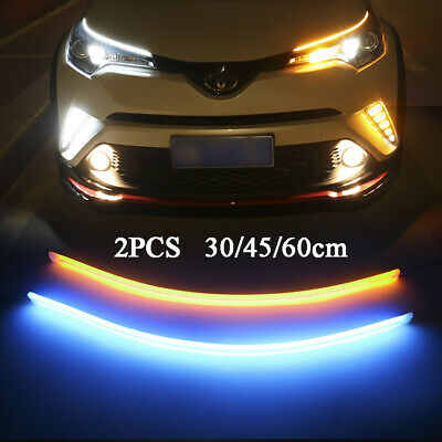 2pcs Car LED Strip Light Sequential Switchback Signal DRL Dynamic Indicator Lamp • 9.48£