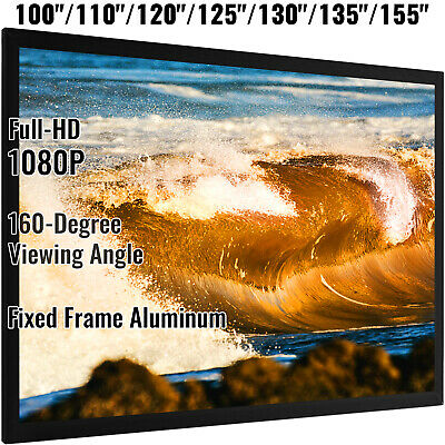 "AU199.95 • Buy 92  100  110  120  125  130""135  155"" Projector Screen Home Theater 3D HD"