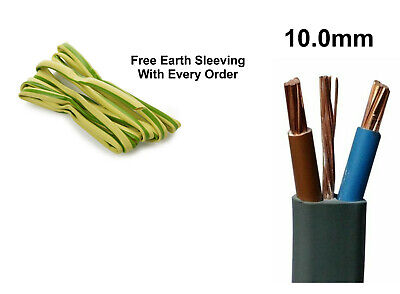 10mm Electrical Electric Cable Wire Twin And Earth Domestic Cooker Shower T&E • 5.89£