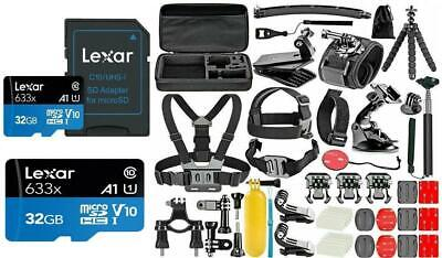 AU109.02 • Buy Deluxe Accessories Kit For GoPro HERO 9/10 Black Silver+High Speed 32GB SD