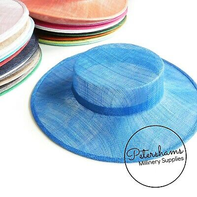 £17.50 • Buy Small Brim Sinamay Boater Fascinator Hat Base For Millinery & Hat Making