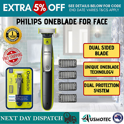 AU88.64 • Buy Philips Hybrid Electric Trimmer Norelco Edge And Shaver OneBlade For Men NEW