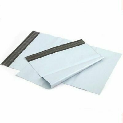 50 LARGE 12 X 16  WHITE PLASTIC MAILING BAGS SELF SEAL POSTAGE POST SACKS - NEW • 4.95£