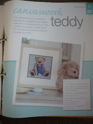 Canvaswork Teddy Embroidery Pattern From Bergere De France Magazine • 1.50£