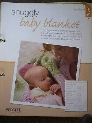 Snuggly Baby Blanket Knitting Pattern From Bergere De France Magazine • 1.50£