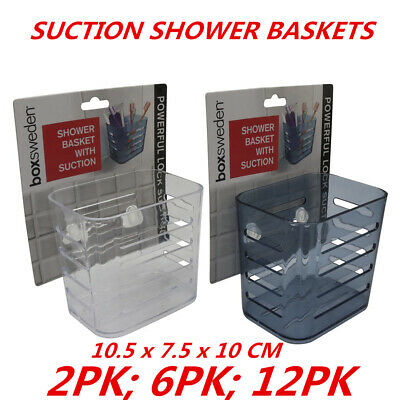 AU14.95 • Buy Strong Suction Shower Plastic Basket Bathroom Organizer Caddy Storage Holder 10c