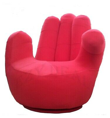 AU149 • Buy Brand New Large Size Swivel Hand Chair, Finger Sofa 1 Seat Couch Lounge * Red
