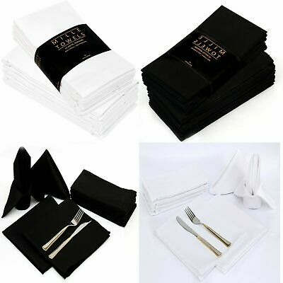 £8.99 • Buy 12X Napkins Table Linen Dinner Cloth Poly Cotton Hotel Wedding Pack 18x18 Inches
