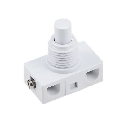 Inline Foot Pedal Push Button Switch, UFO Type Lamp Light Control Latching White • 3.62£