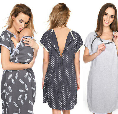 £18.90 • Buy MijaCulture Labor Maternity And Nursing Nightdress Delivery Hospital Gown 4123