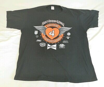 $ CDN49.95 • Buy 1987 Vintage Harley Davidson Of Glendale  Love Ride 4  T Shirt Single Stitch