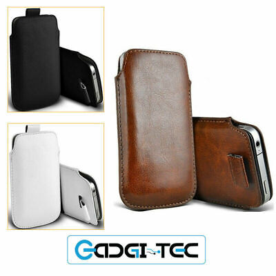 Soft Faux Leather Pull Tab Pouch Case For IPhone 11 Pro XS Max XR X 8 7 6S 6 • 2.89£