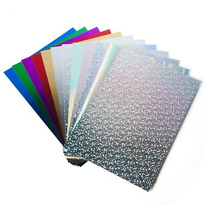 A4 Mirror Card & Holographic - Luxury Metallic Products Choice Of Colours A3 • 3.49£