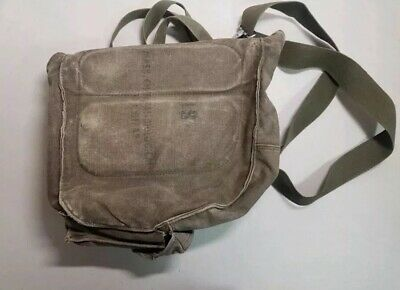 $24.99 • Buy VINTAGE M17 A1 US ARMY GAS MASK Canvas Bag CHEMICAL BIOLOGICAL B67