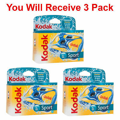 £31.93 • Buy 3x Kodak Underwater Disposable Camera Sport Waterproof 35mm Film 27 Exp 2020