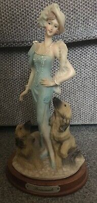 Leonardo Collection Promenade Lady With Blue Dress And 2 Dogs  • 12.99£