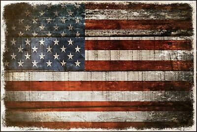 £3.99 • Buy American Flag Vintage Look Retro Style Metal Wall Sign Plaque, Shed, Garage, Bar