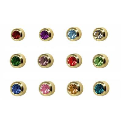 £12.99 • Buy Caflon 24CT Gold Plated Assorted Birthstone Stud (12 Pack)