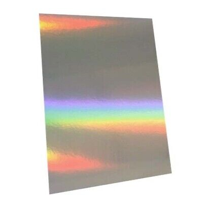 10 Sheets - Silver Rainbow Holographic A4 Crafting Card • 4.99£