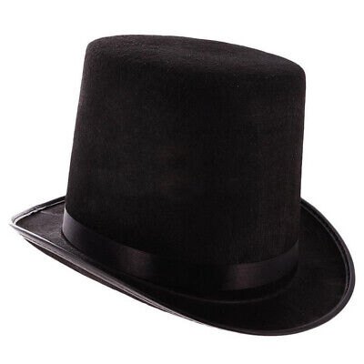 £3.80 • Buy Unisex Tall Top Hat Steampunk Halloween Magician Mad Hatter Ringmaster Costume