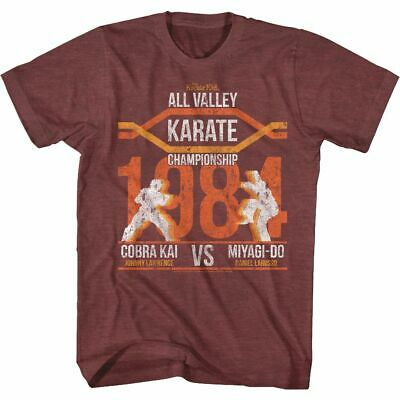 $19.50 • Buy Karate Kid All Valley Champ Maroon Heather T-Shirt
