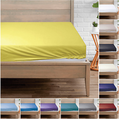 5* Extra Deep Fitted Sheet Bed Sheet 400 Thread Count 100% EGYPTIAN Cotton • 14.99£