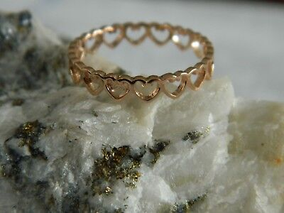 Clogau 9ct Rose Gold Heart Stacking Ring RRP £250.00 Size J,L,M,N,O,P,Q Or R • 179.95£