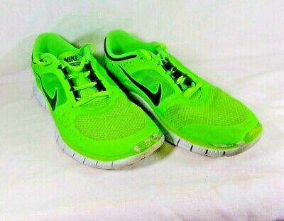 reputable site 027f7 31a0c Mens Nike Free Run 3 Lime Green 510642-301 Size 9 Bright Neon Color !