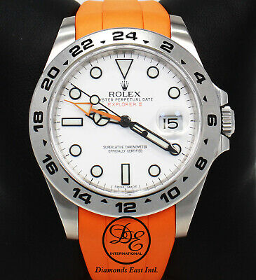 $ CDN12443.34 • Buy Rolex Explorer II 42mm 216570 Steel OYSTER ORANGE RUBBER B White Dial PAPER MINT