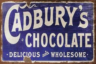 £6.99 • Buy Cadburys Chocolate Bar Advert Vintage Look Retro Style Metal Wall Sign Plaque