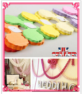 Lucky Four-leaf Clover Paper Garland Buntings Banner Hanging  Wedding Party   • 1.98£