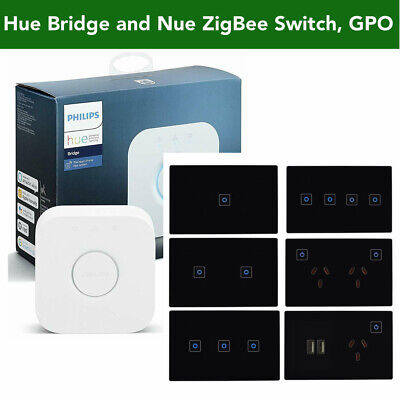 AU55 • Buy Philips Hue Bridge, NUE ZigBee Smart Switch, Dimmer, GPO Socket 4 Home Automatio