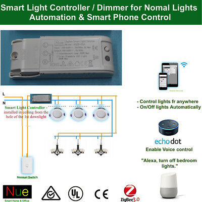 AU43.20 • Buy Smart Philips Hue Compatibl ZigBee Light Switch Controller Dimmer 4 Normal Light