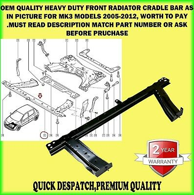 Front Subframe Engine Cradle Radiator Support Panel Bar For Clio Modus 2005-2012 • 65.90£