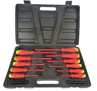 Electricians Screwdriver Set Tool Electrical Fully Insulated 11 Pc With Kit Case • 11.95£